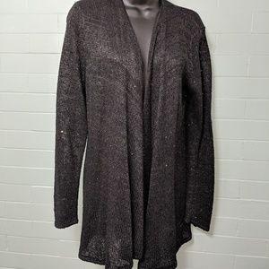 Tahari cardigan with subtle sequins L